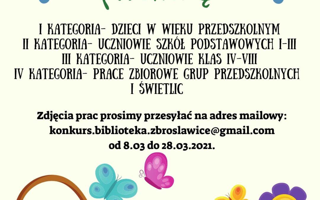 Gminna biblioteka publiczna w zbrosławicach oraz jej filie zapraszają do udziału w konkursie na