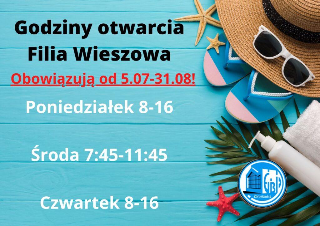 Godziny otwarcia Filia Wieszowa
